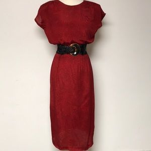 Vintage Lynda Pizzuto 1980's Day Dress